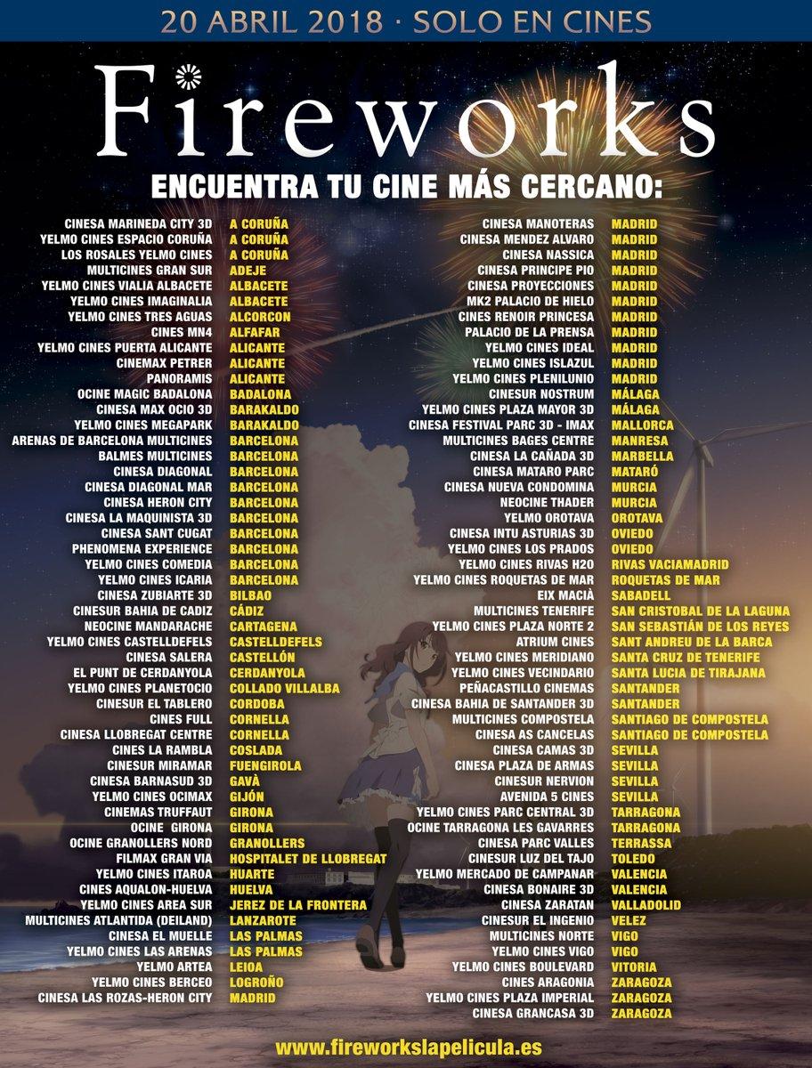 Fireworks toma el relevo de A Silent Voice en cines españoles