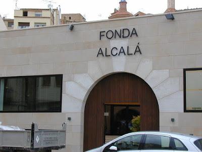 Fonda Alcalá in Calaceite, weiße Bohnen, fesols tous, blancs, judías blancas