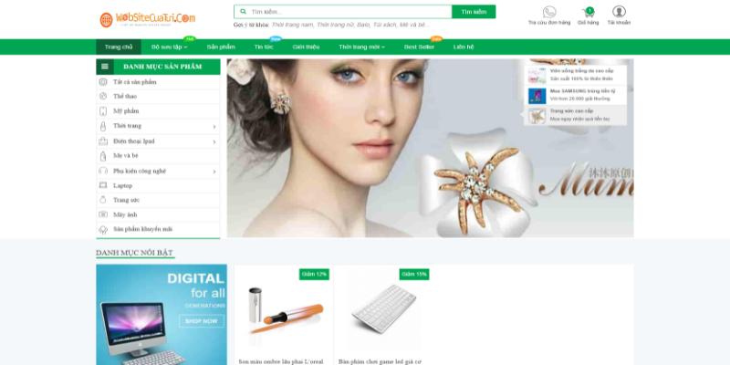 Mẫu website bán hàng online miễn phí