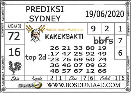 Prediksi Kakek Sakti Sydney Jumat 19 Juni 2020