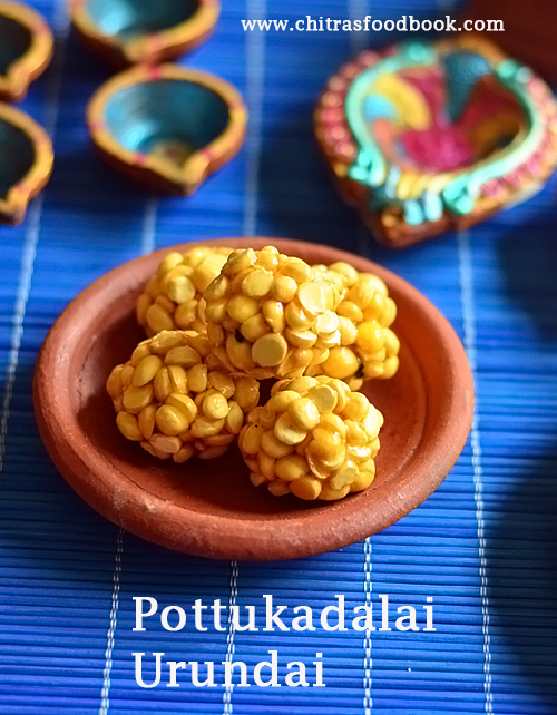 Pottukadalai urundai recipe with jaggery