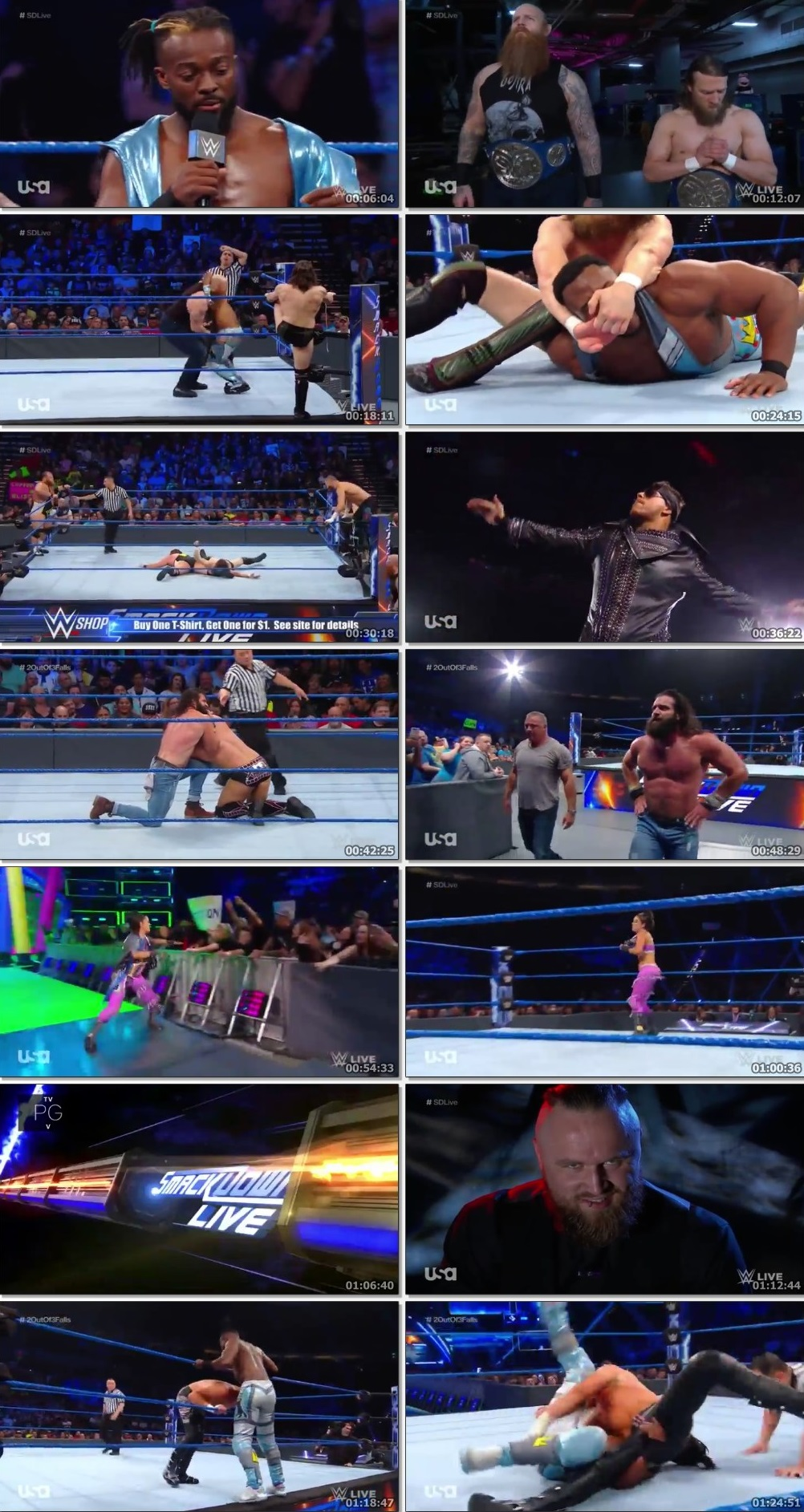 Screen Shot Of WWE SmackDown Live 25th June 2019 HDTV 480P 300MB