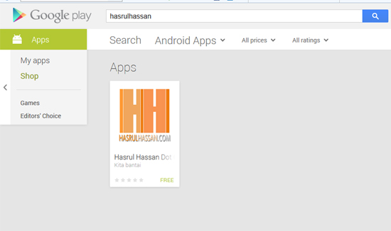 Panduan Blogger Blogspot GooglePlay