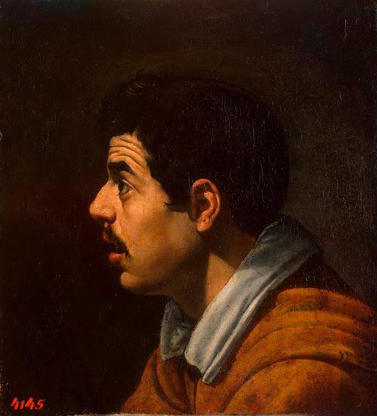 Диего Веласкес - Мужская голова в профиль (ок.1616)