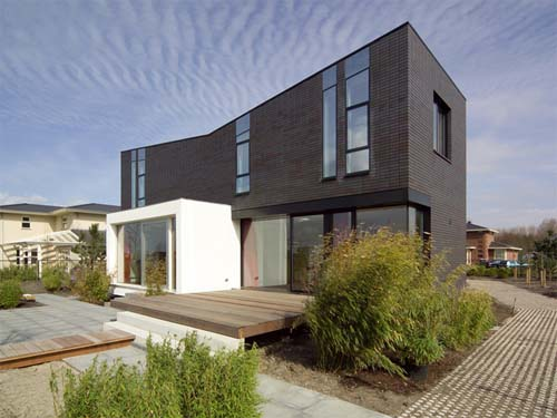 Modern House Design Brick Comfort And Minimalist Style