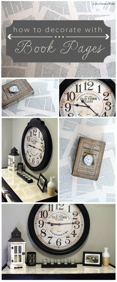Ideas For Decorating With Book Pages Love Grows Wild