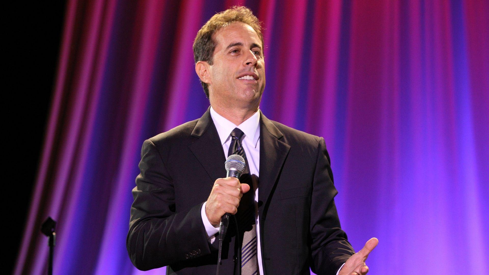 Jerry seinfield givinng speech