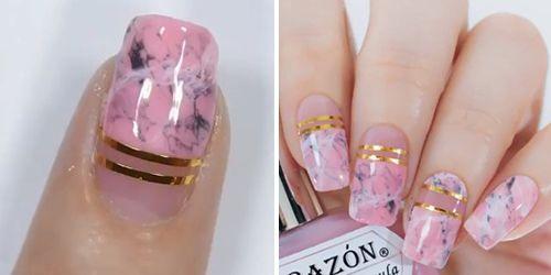 finalizar as unhas decoradas com esmalte clarinho