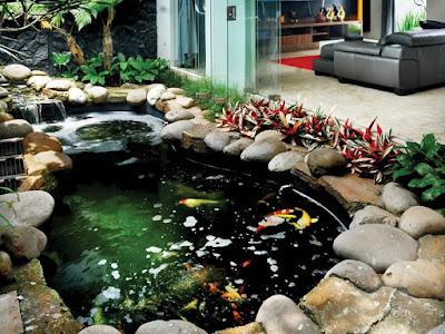 Jasa pembuatan kolam batu kali