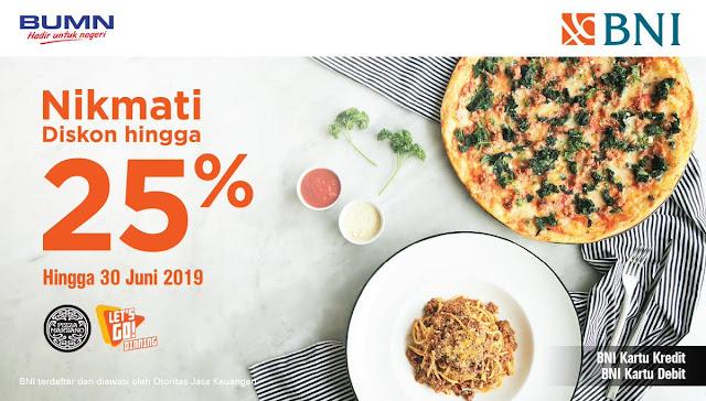 #BankBNI - #Promo Diskon Hingga 25% di Pizza Marzano (s.d 30 Juni 2019)