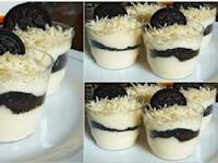 Resep Membuat Oreo Cheesecake Lumer cocok buat camilan anak Hanya Dengan Lima Bahan By Eni Rohaeni