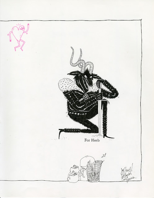 Jay Howell: New Drawings on some Shel Silverstein pages