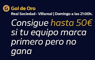william hill Gol de Oro Real Sociedad vs Villareal 29-11-2020