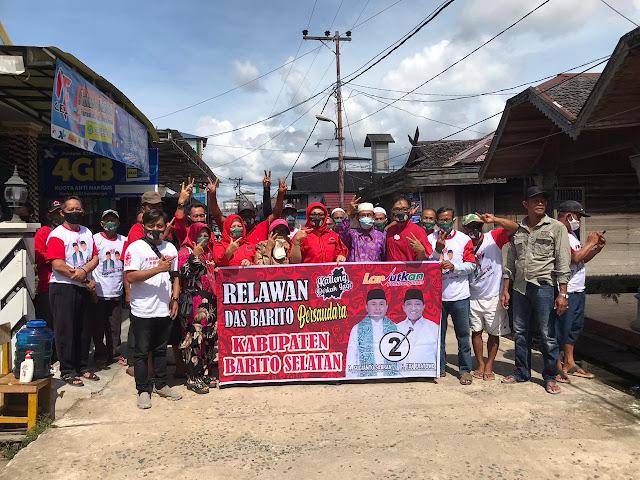Pantang Pulang Sebelum Menang, Dari Jalur Darat Sampai Sungai Tetap Di Tempuh Tim Relawan Das Barito Bersaudara