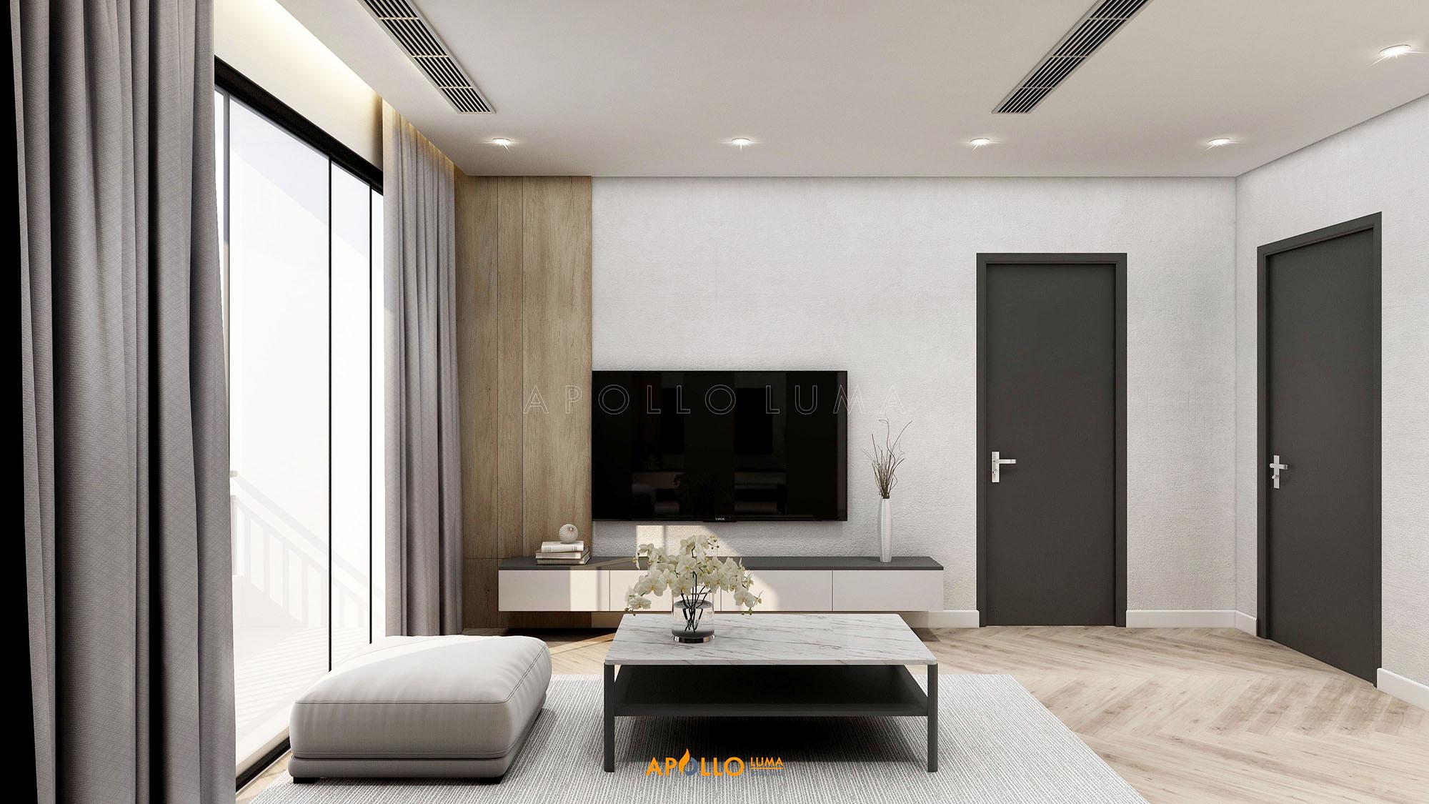 Thiết kế nội thất căn hộ 2PN The Terra An Hưng - Căn hộ số 07 (74m2)