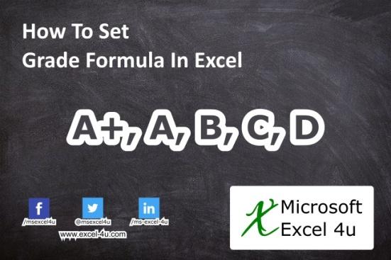 How To Set Grade Formula In Excel