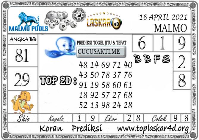 Prediksi Togel MALMO LASKAR4D 16 APRIL 2021