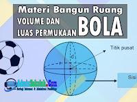 Materi Volume dan Luas Permukaan Bola Lengkap Soal Latihan