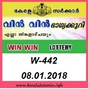 WIN WIN (W-442) LOTTERY RESULT ON JANUARY 08, 2018