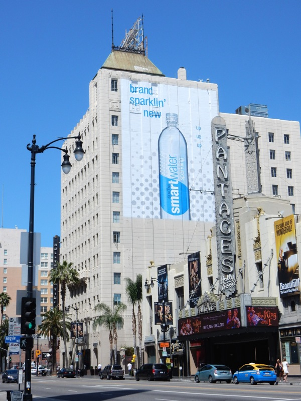 Giant Sparkling Smartwater billboard Hollywood