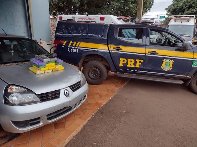 PRF apreende 15,8 Kg de cloridrato de cocaína em Campo Grande (MS)