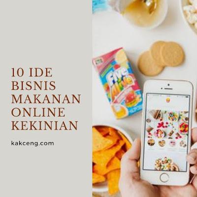 10 Ide Bisnis Makanan Online Kekinian yang Wajib Anda Coba
