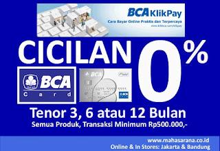 BCAKlikPay BCA Card Cicilan 0%