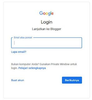 halaman login gmail