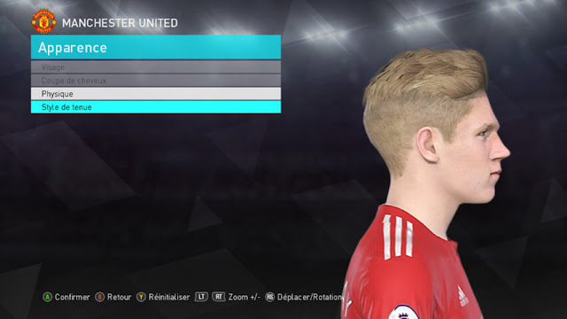 Scott McTominay Face PES 2018