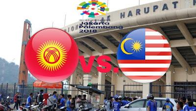 Live Streaming Kyrgyzstan vs Malaysia Sukan Asia 15.8.2018