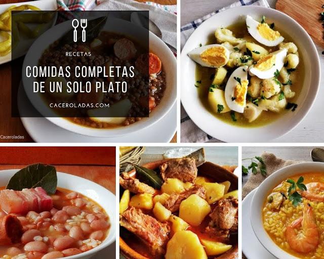 comidas completas de un solo plato