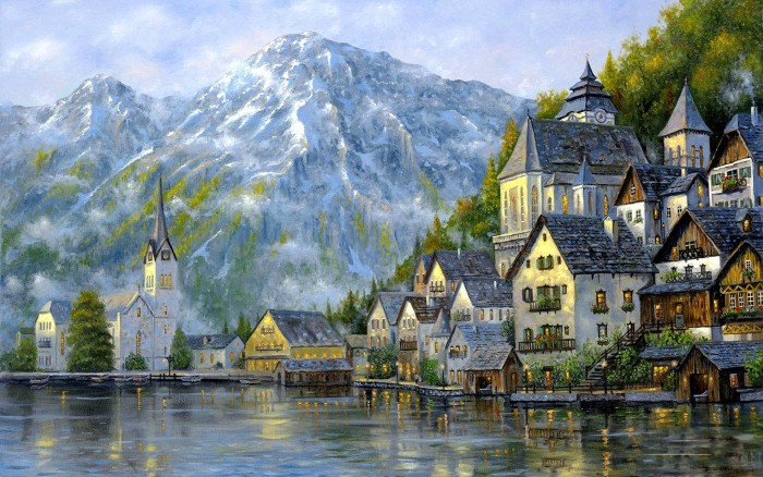 Романтические городские пейзажи. Robert Finale 21