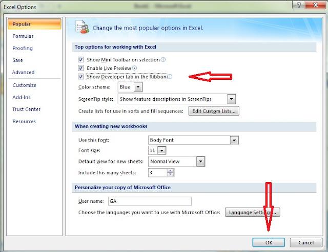 Cara Menampilkan Menu Visual Basic DI Microsoft Excel 2007