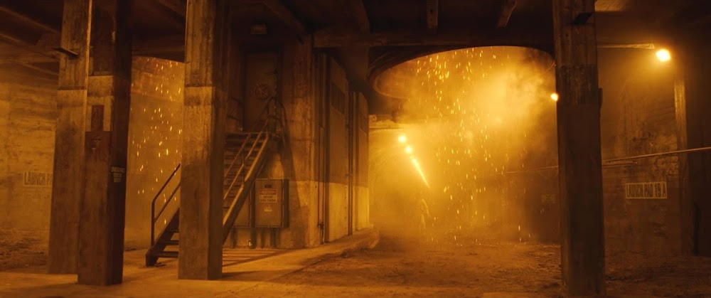 Under rocket launch pad on Mars - image from Ad Astra movie