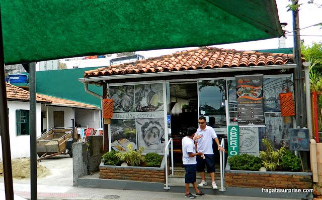 Comer em Florianópolis, Santa Catarina, ostras em Santo Antônio de Lisboa