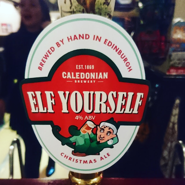 Elf Yourself from Caledonian craft beer pump clip