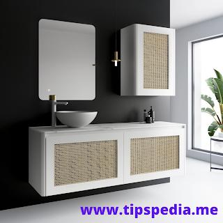 rattan bathroom wall cabinet