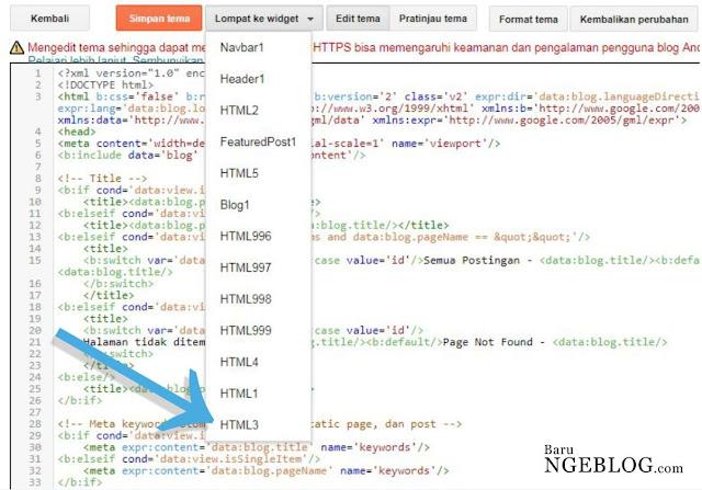 Lompat ke ID widget blog