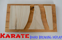 Karate Board Breaking Display