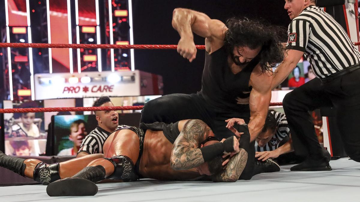 Drew McIntyre and Randy Orton on RAW