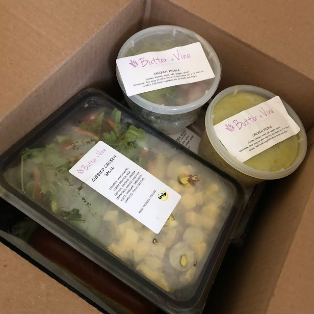 Butter + Vine meals are perfectly packed with directions attached.