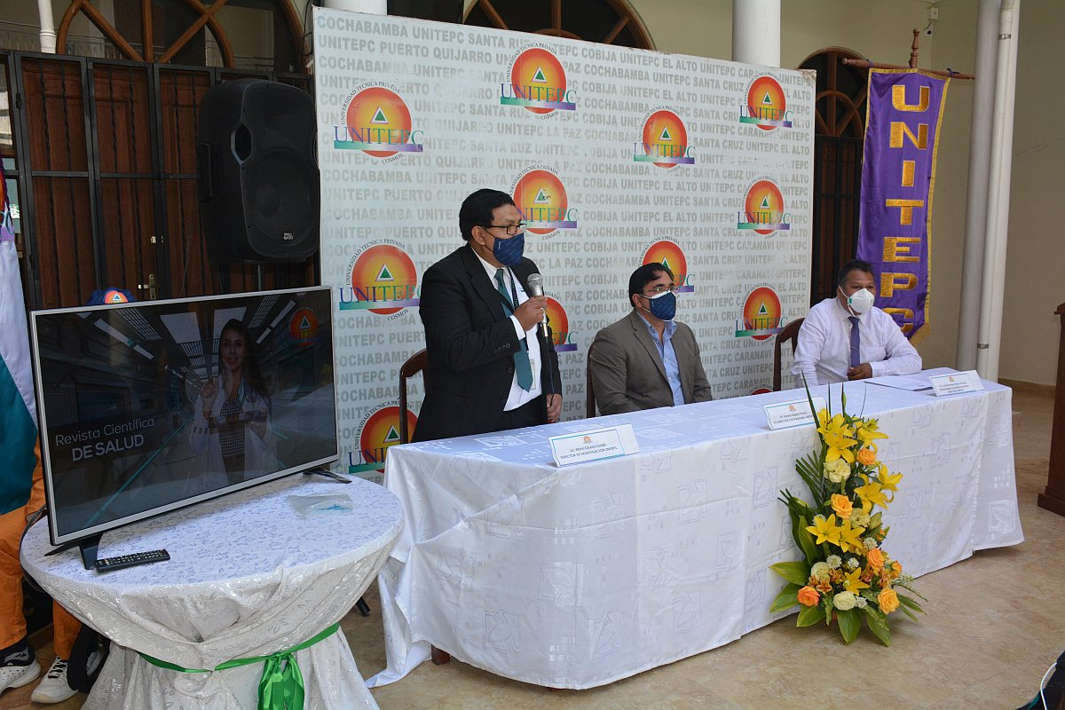 Este nuevo logro fue difundido a la sociedad boliviana por Dr. Ramiro Angulo, Dr. Luis Rojas y Lic. Mario Caceres / UNITEPC