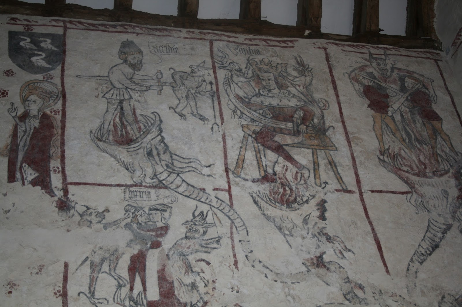 Hidden glamorgan llancarfan medieval wall paintings medieval society was left in no doubt of the consequences of sin amipublicfo Image collections