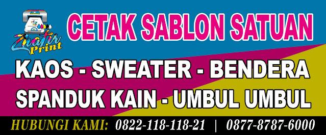 Terima Cetak Satuan - Kaos, Bendera, Spanduk Kain, Umbul-umbul Banyumanik Semarang