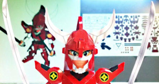 Yoroiden Samurai Troopers -  Ryo No Rekka Paper Model In SD Style<br>by TomTomUs Papercraft
