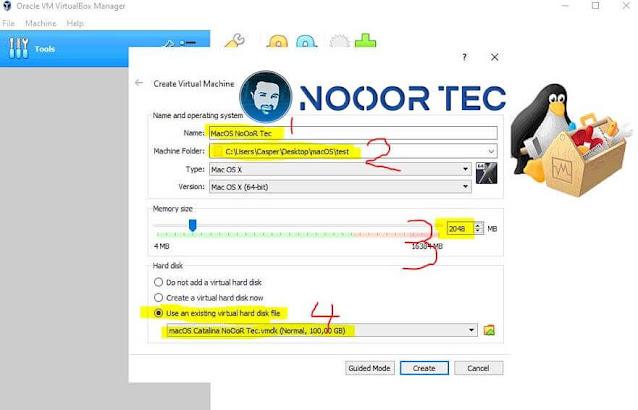 برنامج virtualbox لتنصيب ماك على ويندوز -الخطوة 2