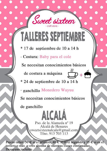 Calendario talleres monográficos en Alcalá de Henares