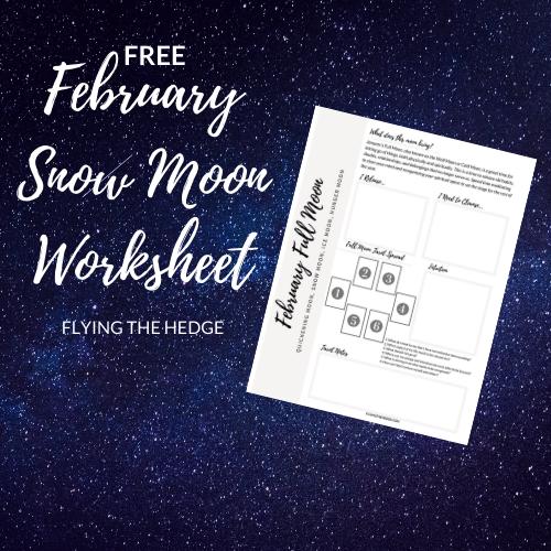 snow moon, full moon, witchcraft, esbat, magic, full moon magic