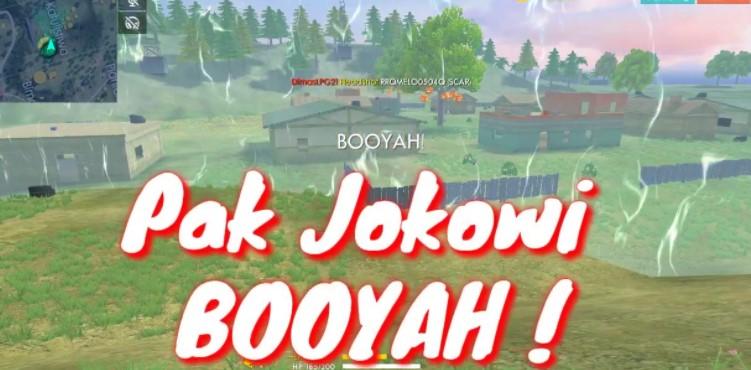 Pak Jokowi Main FF