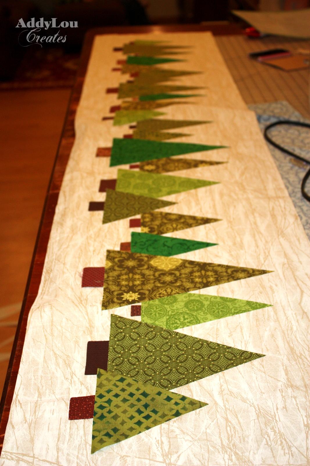 Handmade christmas cheer tree table runner tutorial